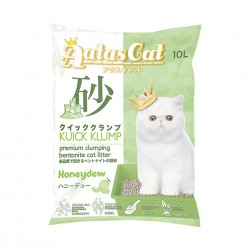 Aatas Cat Bentonite Cat Litter Kuick Klump Honeydew 10L