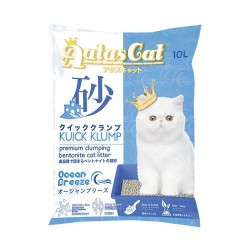 Aatas Cat Bentonite Cat Litter Kuick Klump Ocean Breeze 10L