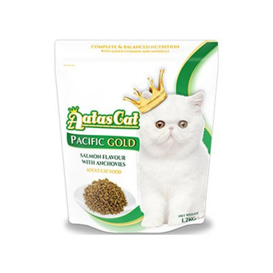 Aatas Cat Dry Food Pacific Gold Salmon with Anchovies 1.2kg