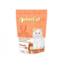 Aatas Cat Tofu Cat Litter Kofu Klump Peach 6L