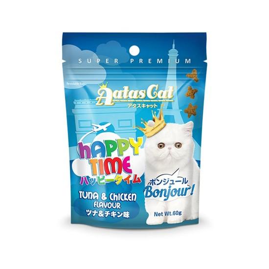 Aatas Cat Treat Happy Time Bonjour Tuna & Chicken 60g