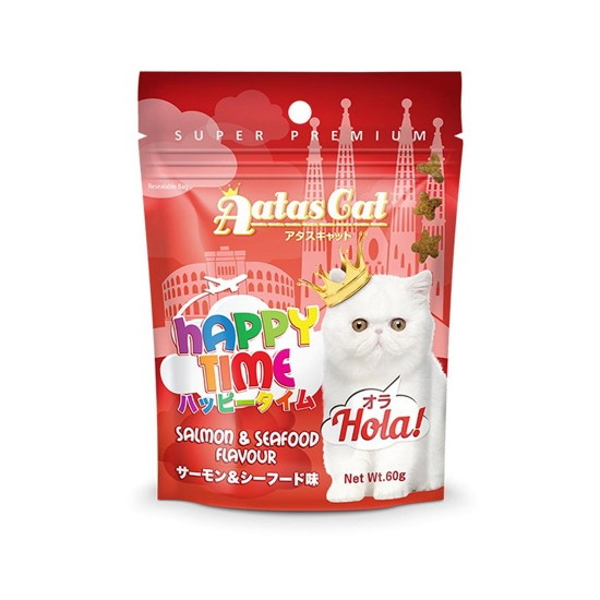 Aatas Cat Treat Happy Time Hola Salmon & Seafood 60g
