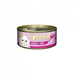 Aatas Cat Canned Food Creamy Chicken & Crab in Gravy 80g 1 ctn