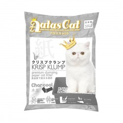Aatas Cat Paper Cat Litter Krisp Klump Charcoal 7L