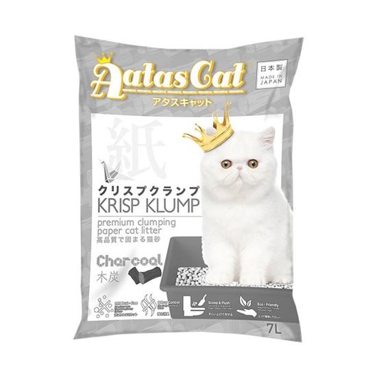 Aatas Cat Paper Cat Litter Krisp Klump Charcoal 7L