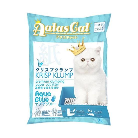 Aatas Cat Paper Cat Litter Krisp Klump Aqua Blue 7L