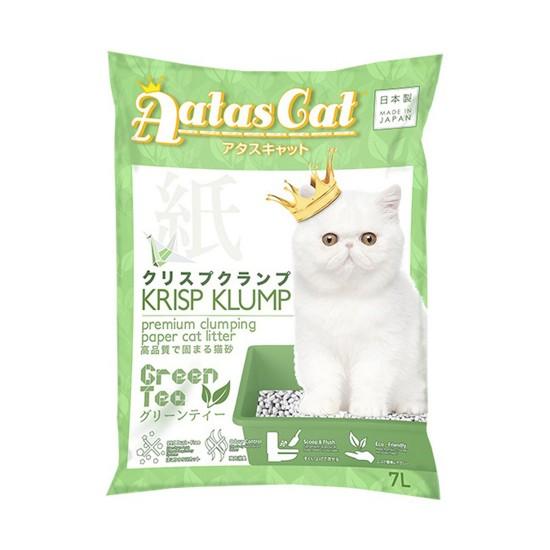 Aatas Cat Paper Cat Litter Krisp Klump Green Tea 7L