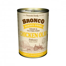 Bronco Dog Canned Food Chicken Olio 390g