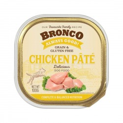 Bronco Dog Tray Food Chicken Pate 100g