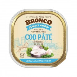 Bronco Dog Tray Food Cod Pate 100g