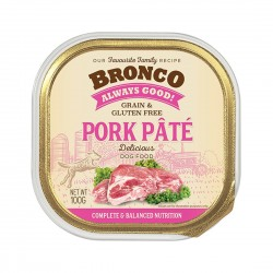 Bronco Dog Tray Food Pork Pate 100g
