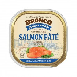 Bronco Dog Tray Food Salmon Pate 100g