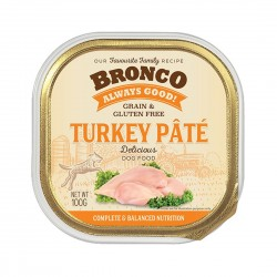 Bronco Dog Tray Food Turkey Pate 100g