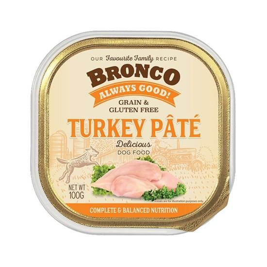 Bronco Dog Tray Food Turkey Pate 100g
