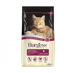 Burgess Cat Food Turkey & Cranberry for Mature Cat 1.4kg