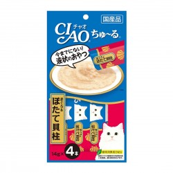 CIAO Cat Treat Churu White Meat Tuna & Scallop 14g