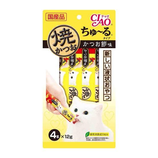 CIAO Cat Treat Grilled Tuna Churu Dried Bonito 12g