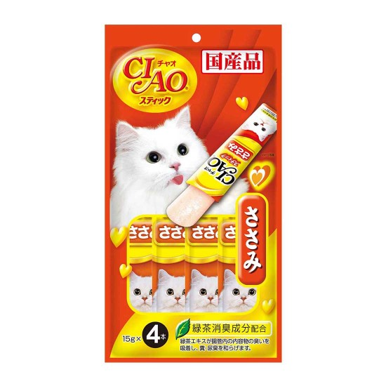 CIAO Cat Treat Stick Jelly Chicken Fillet 15g