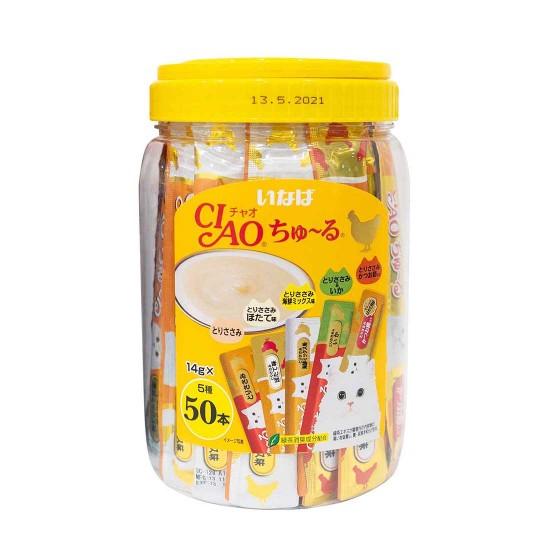 CIAO Cat Treat Churu Chicken Mix Festive Pack 14g