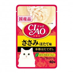 CIAO Cat Treat Creamy Soup Pouch Chicken Fillet Scallop 40g