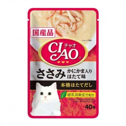 CIAO Cat Treat Creamy Soup Pouch Chicken Fillet with Crab Stick Scallop 40g