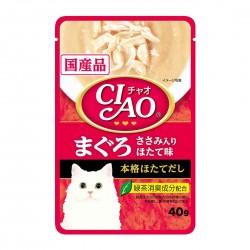 CIAO Cat Treat Creamy Soup Pouch Tuna Maguro & Chicken Fillet Scallop 40g