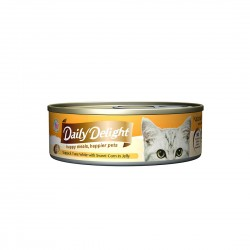 Daily Delight Cat Food Jelly Skipjack Tuna with Sweet Corn 80g