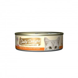 Daily Delight Cat Food Pure Skipjack Tuna White & Chicken with Pumpkin 80g