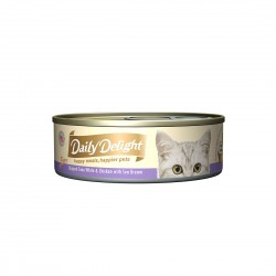 Daily Delight Cat Food Pure Skipjack Tuna White & Chicken with Sea Bream 80g