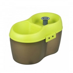Cat H2O Water Fountain Green & Brown 2L