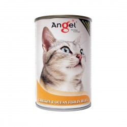 Angel Cat Canned Food Chicken & Ocean Fish in Jelly 400g