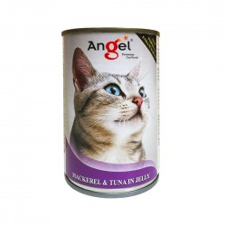 Angel Cat Canned Food Mackerel & Tuna in Jelly 400g