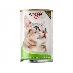 Angel Cat Canned Food Pilchard with Prawn in Jelly 400g