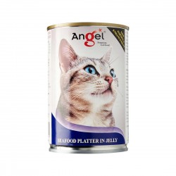 Angel Cat Canned Food Seafood Platter in Jelly 400g