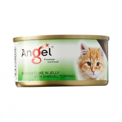 Angel Cat Canned Food Skipjack Flake with Shirasu in Jelly 80g