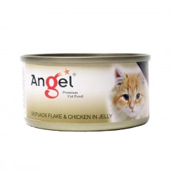 Angel Cat Canned Food Skipjack Flake & Chicken in Jelly 80g