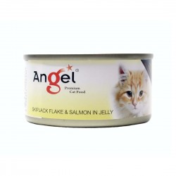 Angel Cat Canned Food Skipjack Flake & Salmon in Jelly 80g