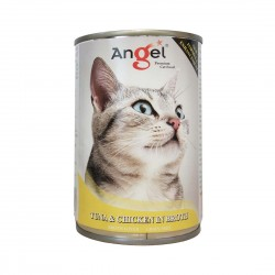 Angel Cat Canned Food Tuna & Chicken in Broth 400g