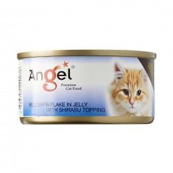 Angel Cat Canned Food Yellowfin with Shirasu in Jelly 80g