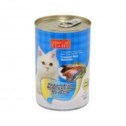 *Purrs & Meows* Aristo Cats Cat Canned Food Ocean Fish with Shrimp in Jelly 400g (24pcs)