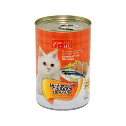 *Purrs & Meows* Aristo Cats Cat Canned Food Sardine & Chicken in Jelly 400g (24pcs)