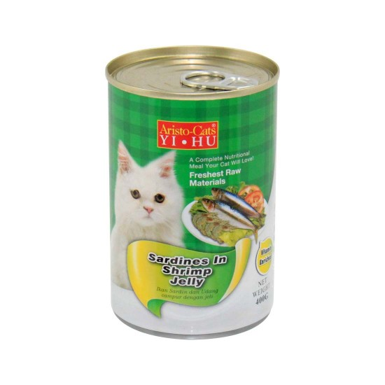 *Susan Lee* Aristo Cats Cat Canned Food Sardine in Shrimp Jelly 400g 1 ctn