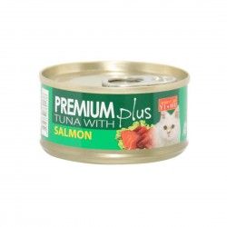 *Cats of Ang Mo Kio* Aristo Cats Cat Canned Food Premium Plus Tuna with Salmon 80g (24 cans)