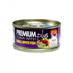 *Mr. A* Aristo Cats Cat Canned Food Premium Plus Tuna with Small Whitefish 80g (24 cans)