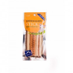 BOW WOW Dog Treat Cheese & Salmon Stick 50g