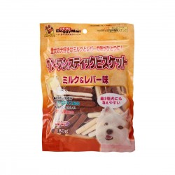 Doggyman Dog Treat Milk & Chicken Liver Biscuit Stick 180g