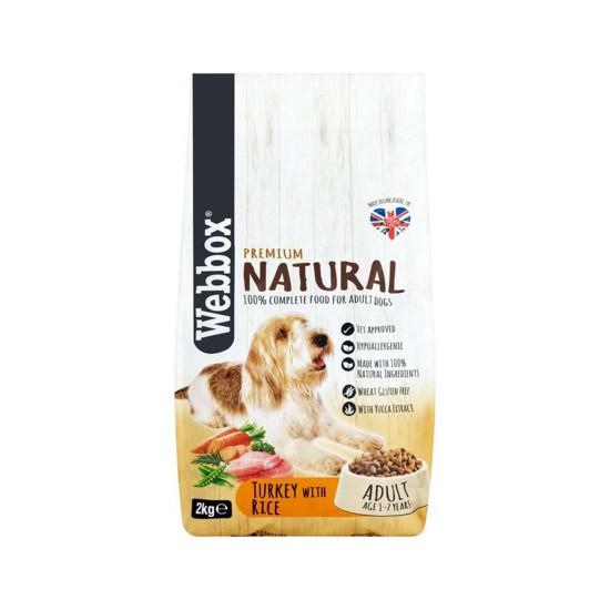 Webbox Premium Natural Dog Food Turkey with Rice 2kg
