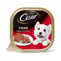 *Animal Lovers League* Cesar Dog Wet Food Beef & Liver 100g (24 cans)