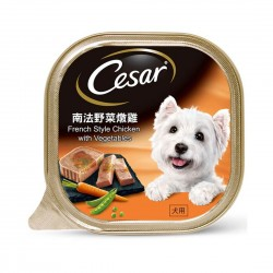 Cesar Dog Wet Food French Style Chicken with Vegetables 100g
