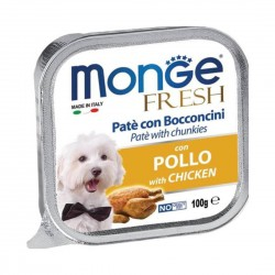 Monge Fresh Dog Wet Food Chicken 100g
